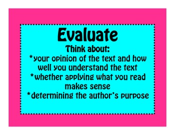 Reader's Workshop Reading Strategies