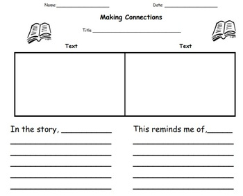 Readers Workshop Response Pages for Making Connections