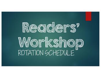 Readers' Workshop Rotation PowerPoint - CHALKBOARD