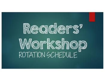Readers' Workshop Rotation PowerPoint - CHALKBOARD