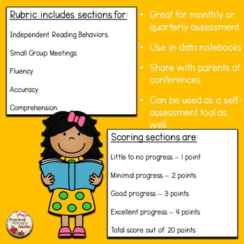 Primary Reader's Workshop / Literacy Centers Rubric