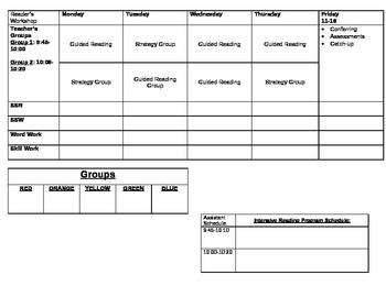 Reader's Workshop Schedule Template