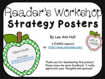 Reader's Workshop Strategy Posters