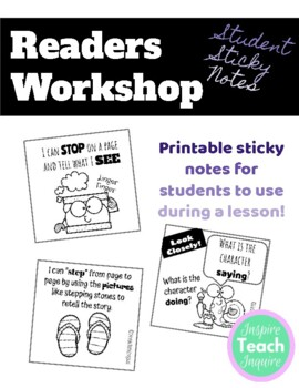Readers Workshop Strategy Sticky Notes **GROWING BUNDLE**
