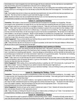 Readers Workshop - Third Grade Biography Unit