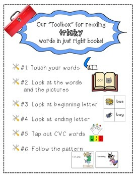"Reader's Workshop ""Toolbox"" for Reading Tricky Words in Ju"