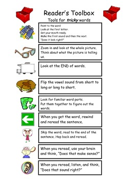 Readers Workshop- Tools for Tricky Words