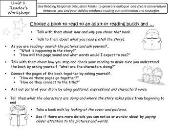 Reader's Workshop Unit 1 Reading Response Discussion Points