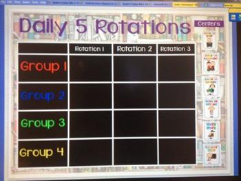 Reader's Workshop/Daily 5 Rotation Flipchart