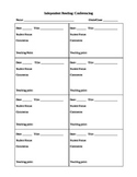 Reader's Workshop/Independent Reading Conferencing Sheet