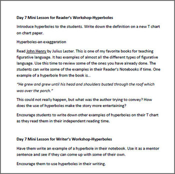 Reader's & Writer's Workshop: Teaching Figurative Language