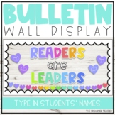 Readers are Leaders Classroom Bulletin Display   Classroom Library Decor