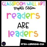 Readers are Leaders Classroom Wall Art Bulletin Board