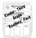K to 3rd grade Readers' book review pack