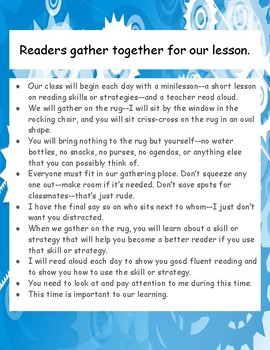 Readers gather together for our lessons poster, printable, minilesson
