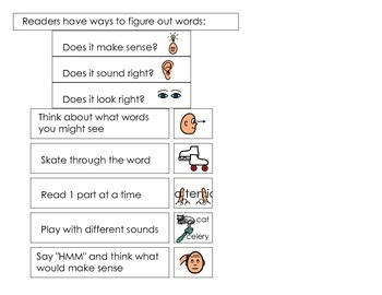 Readers have ways to figure out words