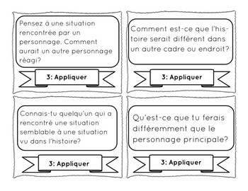 Readers in Bloom: FRENCH Reading Question Cards from Bloom's Taxonomy!