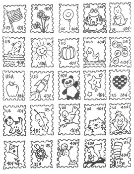 Stamps for a writing center with original artwork!
