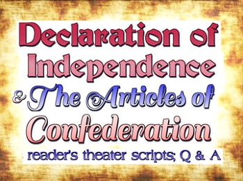 Reader's theater script: Founding Documents