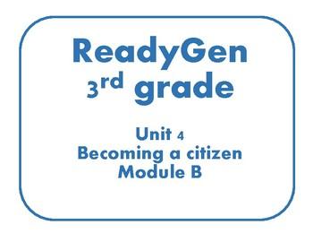 Readgen Concept Board Unit 4 module B 3rd grade
