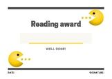 Pac-Man reading award
