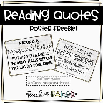 Reading Quotes FREEBIE!
