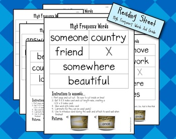 Readind Street High Frequency Words 2nd Grade, 2013
