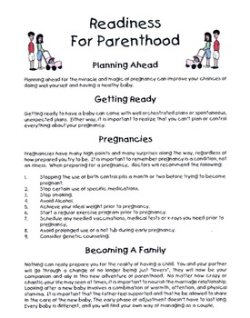 Readiness For Parenthood Lesson