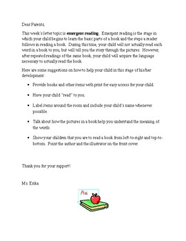 Readiness Letters for Kindergarten
