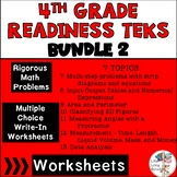 Readiness TEKS 4.5A-4.9A Multiple Choice & Write in 20 worksheets each BUNDLE