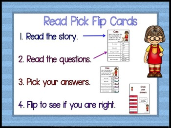 Reading Comprehension Passages: Kids Reading Clip Cards