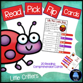 Reading Comprehension Passages: Bugs Clip Cards for Reading Centers