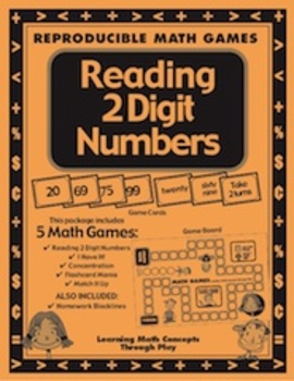 Reading 2 Digit Numbers Math Games, Activities and Lesson Plans
