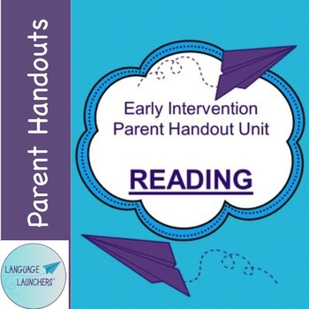 Early Intervention Parent Handout Unit: Reading with Babies