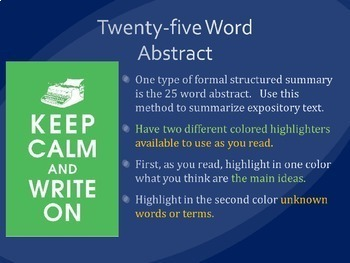 25 Word Abstract