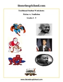 Grades 3 - 5 Compare & Contrast Characters (F vs NF ) - Gandhi,Obama,Superman...