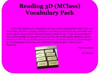 Reading 3D Vocabulary