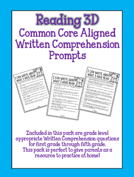 Reading 3D Written Comprehension Question Stems