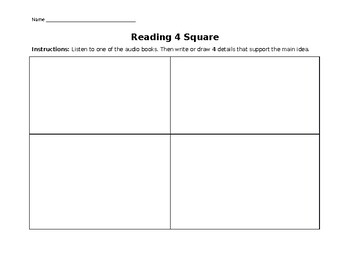 Reading 4 Square Worksheet