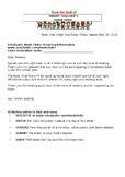 Scholastic Book Club Letter