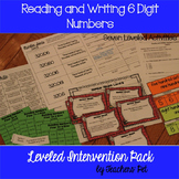 Reading 6 Digit Numbers: Leveled Intervention Pack