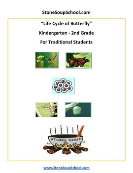 K - 2  Life Cycle of Butterfly - for Traditional Students - Reading -  Science