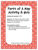 Parts of A Map Activity & Quiz