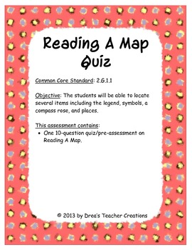 Reading A Map Quiz