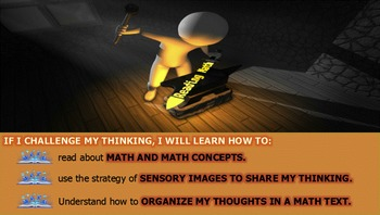 Reading Strategies- THINKING THROUGH A MATH BOOK- Animated Powerpoint