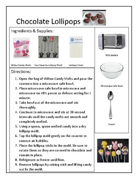 Reading A Recipe: Chocolate Lollipops