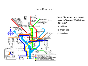 Reading A Subway Map- Freebie