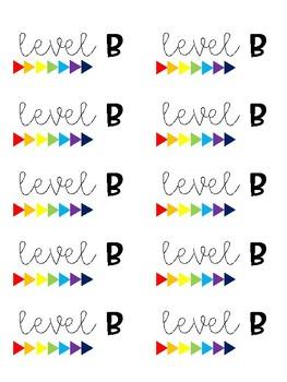 Reading A-Z Book Bin Labels