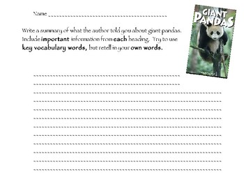Reading A-Z Giant Pandas Level P