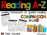 Reading A-Z Homework or Gudied Reading Companion for Level B Readers